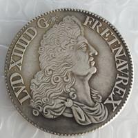 Frankrike 1 ecu - Louis XIV 1685 Kopiera mynt Brass Craft Ornaments Replica Mynt Hem Dekoration Tillbehör