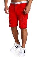Акация разорвана новая мода шорты мужские короткие джинсы бренда Бермудская дышащая летняя одежда джинсовый человек мужчина IARXL