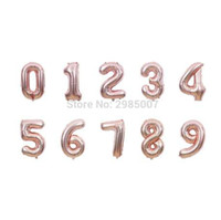 1 adet 40 inç gül altın numarası balonlar 0/1/2/3/4/5/6/7/8/9 dev dijital alüminyum folyo balon 16 20 30 doğum günü partisi balonlar