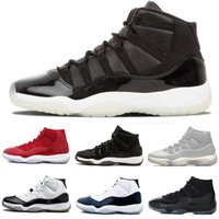 Alta qualità 11 Space Jam Bred Concord Casual Scarpe Uomo Scarpe donna 11s Gym Red Navy Gamma Blue 72-10 Scarpe casual