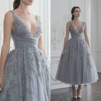 Paolo Sebastian 2019 Short Prom Dress Custom Made Deep V Nec...