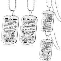 Zu meinem Sohn / zur Tochter möchte ich, dass Sie Halsketten-Ketten-Vati-Mutter-Liebe Sie Geschenk für besten Sohn / Tochter glauben, die freies Verschiffen ist