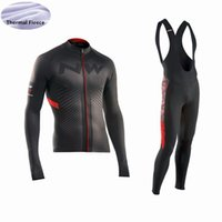 NW Pro Team Radtrikot Set Winter Thermo Fleece 9D Gel Pad (Latzhose) Tour de France Radsportbekleidung lange Ärmel Ropa Ciclismo