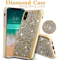 3D Luxury Diamond Case For iPhone X Galaxy S8 Plus Commuter ...