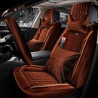 Cubiertas de asiento de accesorios de accesorios de interior de ajuste universal Conjunto para sedán de cinco asientos Durable PU cuero de PU 9 piezas Cubiertas de asiento de invierno Conjunto para SUV