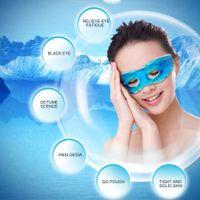 Multifonctionnel Ice Eyeshade Sleeping Eye Mask Réduit les cernes Soulager la fatigue Réduire la fatigue oculaire Couvrir les yeux Masques pour les yeux Gel