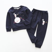 New cartoon rabbit print casual children' s suit autumn ...