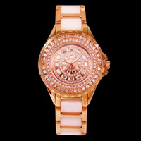 Women' s Stainless Steel Ceramic Rhinestone Watch Gypsop...