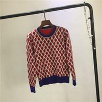 Herbst 2018 Neues Design Frauen Oansatz Langarm verlässt Stickerei Farbblock Pullover Pullover Pullover Pullover Strickwaren