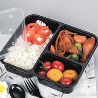 3 Or 4 Compartment Reusable Plastic Food Storage Containers ...