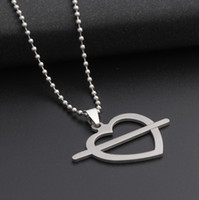 10pcs stainless steel love at first sight symbol love heart ...