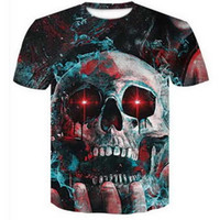 Kafatası 3D Komik Tişörtleri Yeni Moda Erkekler / Kadınlar 3D Baskı Karakter T-Shirt T gömlek Kadınsı Seksi Tshirt Tee Üstleri Giysileri ya180