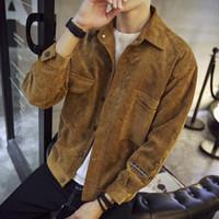 Men's casual all-match jacket outwear tailored jacket coat spring slim jacket corduroy autumn Leisure fashion coat