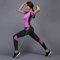 Women Yoga Set Reflective Safety Gym Fitness Clothes Tennis ...