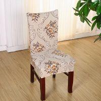 1 조각 폴리 에스터 스 판 덱 스의 자 커버 인쇄 된 탄성 다이닝 의자 커버 웨딩 파티 다이닝 의자 좌석 커버 V49