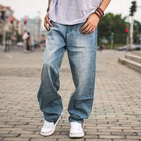 Spring Autumn Men Baggy Blue Jeans Male Hip Hop Jogger Loose Jeans Long Skateboard Jeans For Men Harem Pants Plus Size 30-46