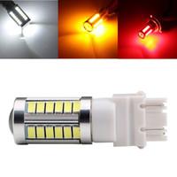 2pcs 3156 3157 LED High Power 33 SMD 5630 LED orange jaune clignotants blanc P27W ampoules voiture rouge T25 P27 / 7W Light Car lampe Source