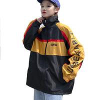 Хип-хоп BF Harajuku куртка женская осень пальто Uinsex куртка с подогревом с длинным рукавом печатных пиджаки ослабить ветровка