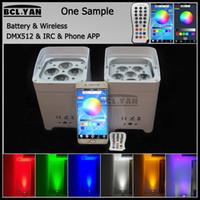 WIFI Phone app smart led freedom par light uplights HEX4 6 *18W RGBWAUV 6 IN 1 Led battery power wireless dmx DJ lighting
