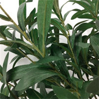 6 شوكة الزيتون ليف فرع الاصطناعي زهرة النبات الزفاف الديكور الحرير الزهور صديقة للبيئة سهلة الاستخدام 4 8wq د