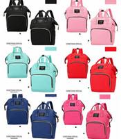 Retail Ins Parsolle Borsa Mummia Mummy Maternity Bag Bag Brand Brand Capacità Pannolini Diaper Baby Travel Zaino Designer Assistenza per la cura del bambino 6Colors