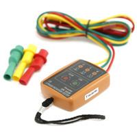 Tester del rivelatore dell'indicatore del tester di rotazione di sequenza di sequenza di 3 fasi con LED e indicatore di fase del tester del cicalino 60V ~ 600V CA (CA di 3 fasi)