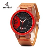 BOBO BIRD Men Watch Brand Wood Case Strap Auto Calendar Time...