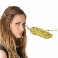 Morsetti dei capelli dei monili per le ragazze / clip del morsetto dei capelli di Pin di capelli della clip laterale del metallo della clip d'argento del metallo della piuma di ladie
