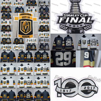 29 Marc-Andre Fleury 2018 Stanley Cup Finale Max Pacioretty William Karlsson Jonathan Marchessault Vegas Golden Ritter Nate Schmidt Jersey