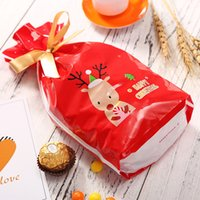 10Pcs Merry Christmas Plastic Candy Gift Bag Cute Cookie Pac...