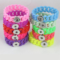 Newest Fashion Silicone Stretch Bracelets Fit 18mm Snap Butt...