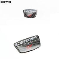 2шт ST логотип углеродного волокна стикер B колонка двери украшения тела наклейка для Ford Fiesta Ecosport 2009-2018 автоаксессуары
