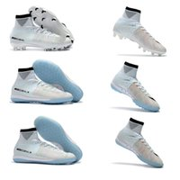 Le football des bottes 100% blanches originales du football CR7 chaussure