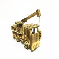 Modell des Kranichs mit Holzkran Diecast Model Cars