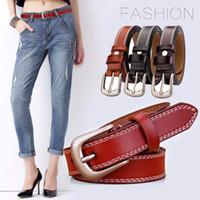 المرأة الفاخرة جلد البقر الحقيقي حزام الخصر رقيق femal حزام مصمم الأزياء حزام حزام ceinture السلس مشبك