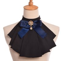 Vintage Women Jabot Neck With Bowknot Pins Punk Victorian Ch...