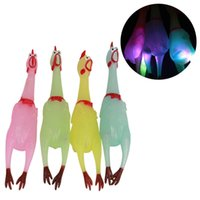 Squeeze Luminous Screaming Chicken Sound Toys Squeaker Stres...