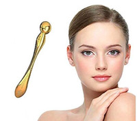 24K Gold Eye Massager Wand Wrinkle Removed Skin Massage Tool...
