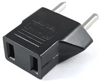 3000pcs/lot DHL free shipping US Plug to EU Plug Travel AC Power Socket Plug Adaptor Standard Adapter Converter 2 Pin Connector Black