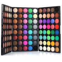 النساء أحدث ماكياج popfeel المهنية البسيطة 120 الألوان عينيه التجميل المحمولة الأزياء ظلال العيون الجمال المكياج