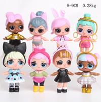 Dessin animé lol poupées mignon bébé paillettes princesse robe poupées de poupées d'action jouets anime pour enfant cadeau d'anniversaire YH1568