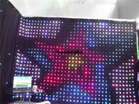 P9 2x3m Led dj light curtain display video flexible led rgb curtain for stage backdrops