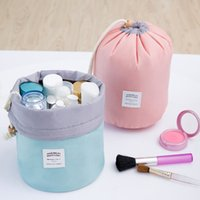 High Quality Barrel Shaped Travel Cosmetic Bag Makeup bag Ny...