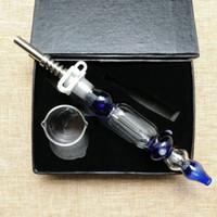 Nuovo 10mm 14mm Joint Collector Kit Kit Mini fumo Tubi con titanio Suggerimento DAB Pan Ittiglie di petrolio Paglia Vetro Piatto NC Collezionisti Piccolo
