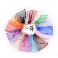 500pcs su misura i multi colori 13x18cm favore di nozze dei monili rifornisce le borse del regalo di Organza degli imballaggi di stoccaggio medi promozionali