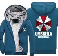 9 اللون الشر المقيم مظلة شركة logo طباعة الرجال هوديس الذكور رشاقته الصوف سستة الجيش التمويه سوياتشيرتس معطف