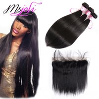 Straight 9A Malaysian Virgin Hair Weaves Extensions With 13x...