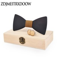 wholesale Black wood Novelty Wedding Party Polyester Bowtie ...