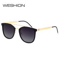 4ba28e7c89542 WESHION Óculos De Sol Dos Homens Polarizados TR90 Quadro Clássico Homem  Quadrado Esporte Óculos de Sol 2018 Óculos UV400 UVA Proteção UVB Zonnebril
