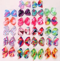 JOJO SIWA 5 inches LARGE Rainbow Signature HAIR BOW wich cli...